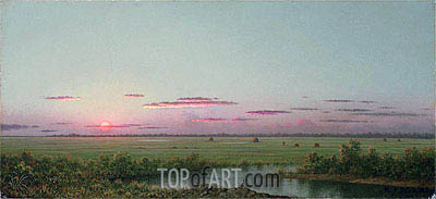 Sunset on Long Beach, a.1867 | Martin Johnson Heade | Painting Reproduction