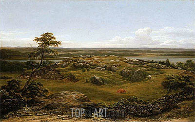 Rocks in New England, 1855 | Martin Johnson Heade | Painting Reproduction