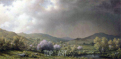 April Showers (Spring Shower, Connecticut Valley), 1868 | Martin Johnson Heade | Painting Reproduction