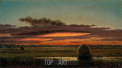 Sunset over the Marshes, c.1890/04 | Martin Johnson Heade | Gemälde Reproduktion