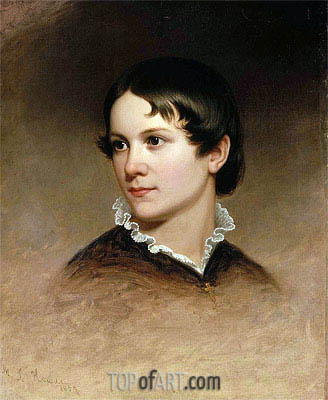 Mary Rebecca Clark, 1857 | Martin Johnson Heade| Painting Reproduction
