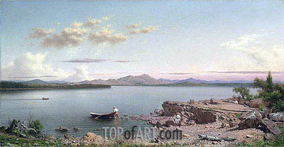 Lake George, 1862 | Martin Johnson Heade| Gemälde Reproduktion