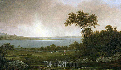 Rhode Island Landscape, 1859 | Martin Johnson Heade | Painting Reproduction