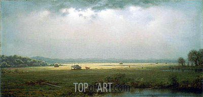 Newburyport Marshes, c.1866/76 | Martin Johnson Heade| Painting Reproduction
