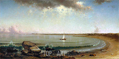 Shore Scene: Point Judith, 1863 | Martin Johnson Heade | Painting Reproduction