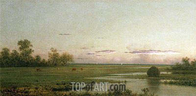 Salt Marsh at Southport, Connecticut, c.1875/81 | Martin Johnson Heade | Painting Reproduction