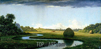 Newburyport Marshes:  Passing Storm, c.1865/70 | Martin Johnson Heade | Painting Reproduction
