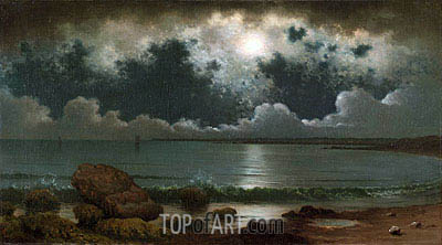 Point Judith, Rhode Island, c.1867/68 | Martin Johnson Heade | Gemälde Reproduktion