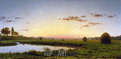 Haystacks on the Newburyport Marshes, 1862 | Martin Johnson Heade | Painting Reproduction