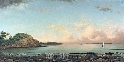 Singing Beach, Manchester, 1862 | Martin Johnson Heade | Painting Reproduction