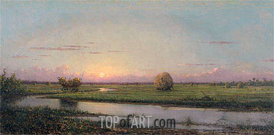 Sunset over Newburyport Meadows, 1904 | Martin Johnson Heade | Gemälde Reproduktion