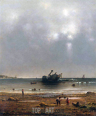 The Old Shipwreck, 1865 | Martin Johnson Heade| Painting Reproduction