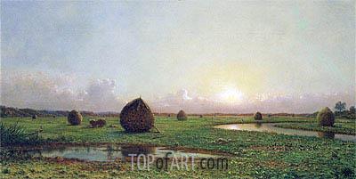 Haystacks, c.1876/88 | Martin Johnson Heade | Painting Reproduction
