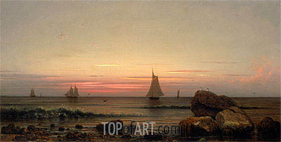 Sailing off the Coast, 1869 | Martin Johnson Heade | Painting Reproduction