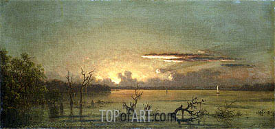 Twilight on the St. John's RIver, undated | Martin Johnson Heade| Gemälde Reproduktion