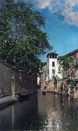 Canal in Venice, c.1880/90 by Martin Rico y Ortega | Painting Reproduction
