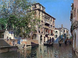 A Canal in Venice, c.1875 by Martin Rico y Ortega | Painting Reproduction