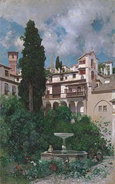 A Spanish Garden, undated by Martin Rico y Ortega | Painting Reproduction