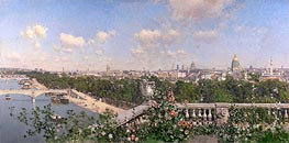 View of Paris, 1883 von Martin Rico y Ortega | Gemälde-Reproduktion
