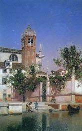 A Canal in Venice (Un canal en Venecia), c.1903 by Martin Rico y Ortega | Painting Reproduction