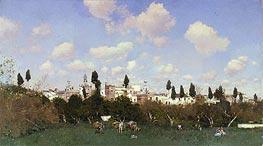 La Huerta del Retiro, Seville, 1875 by Martin Rico y Ortega | Painting Reproduction