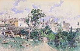 La Huerta, Seville, c.1870/80 von Martin Rico y Ortega | Gemälde-Reproduktion