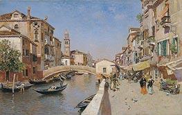 San Lorenzo River with the Campanile of San Giorgio dei greci, Venice, c.1900 von Martin Rico y Ortega | Gemälde-Reproduktion