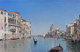 A Gondola on the Grand Canal, undated von Martin Rico y Ortega | Gemälde-Reproduktion
