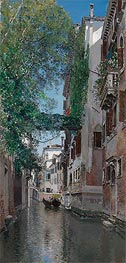 A Venetian Canal Scene, undated von Martin Rico y Ortega | Gemälde-Reproduktion