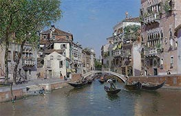 Rio San Trovaso, Venice, undated von Martin Rico y Ortega | Gemälde-Reproduktion