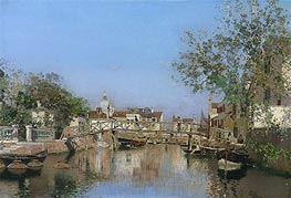 A Canal near the Isle of Giudecca | Martin Rico y Ortega | Painting Reproduction