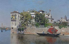 A View of a Venetian Garden | Martin Rico y Ortega | Painting Reproduction