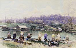 The Washerwomen, undated by Martin Rico y Ortega | Painting Reproduction
