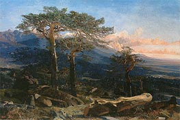 A Landscape of Guadarrama, 1858 by Martin Rico y Ortega | Painting Reproduction