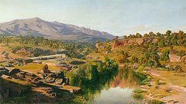 A Country, near Azanon, 1859 by Martin Rico y Ortega | Painting Reproduction