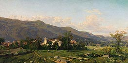 Switzerland Landscape, 1862 by Martin Rico y Ortega | Painting Reproduction