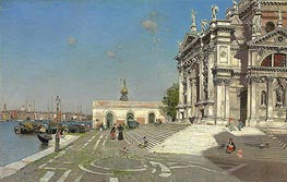 Santa Maria della Salute, Venice, undated by Martin Rico y Ortega | Painting Reproduction