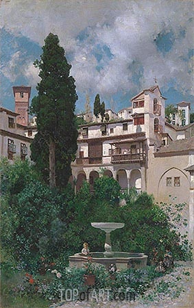 A Spanish Garden, undated | Martin Rico y Ortega| Painting Reproduction