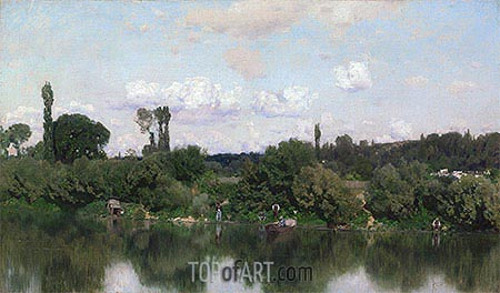 On the Seine, undated | Martin Rico y Ortega | Painting Reproduction