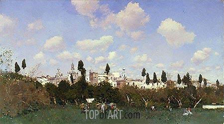 Martin Rico y Ortega | La Huerta del Retiro, Seville, 1875