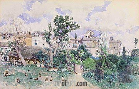 La Huerta, Seville, c.1870/80 | Martin Rico y Ortega | Painting Reproduction