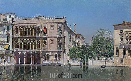The Ca' d'Oro, undated | Martin Rico y Ortega| Painting Reproduction