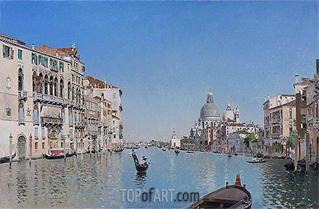 A Gondola on the Grand Canal, undated | Martin Rico y Ortega | Painting Reproduction