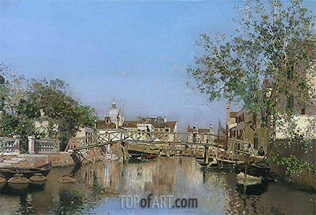 A Canal near the Isle of Giudecca, undated | Martin Rico y Ortega| Painting Reproduction