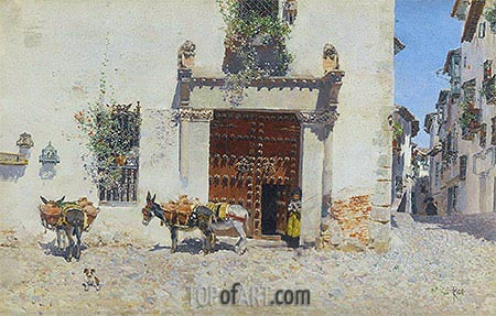 Waiting, 1875 | Martin Rico y Ortega| Painting Reproduction
