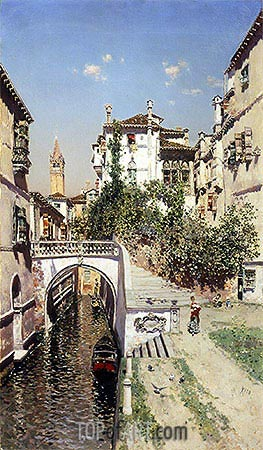 A Venetian Canal Scene, undated | Martin Rico y Ortega | Painting Reproduction