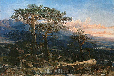 A Landscape of Guadarrama, 1858 | Martin Rico y Ortega | Painting Reproduction