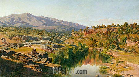 A Country, near Azanon, 1859 | Martin Rico y Ortega | Painting Reproduction