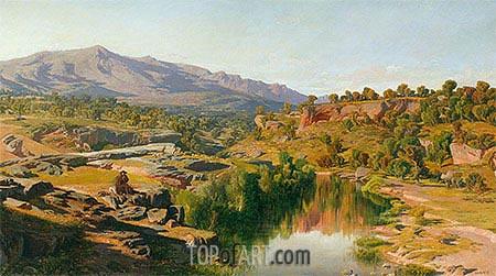 A Country, near Azanon, 1859 | Martin Rico y Ortega | Gemälde Reproduktion