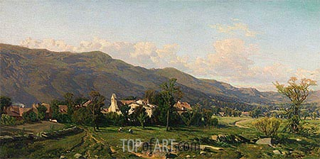 Switzerland Landscape, 1862 | Martin Rico y Ortega| Painting Reproduction